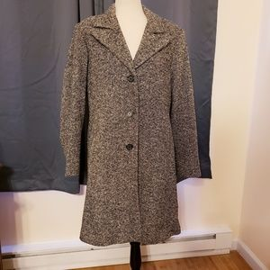 Jackets & Blazers - Vintage Long overcoat gray 12 petite